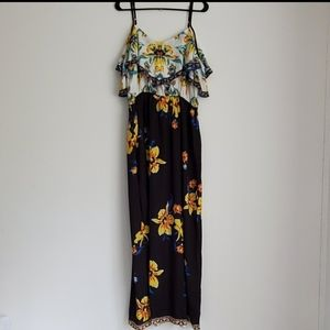 Flying Tomato cold shoulder  maxi dress 1X